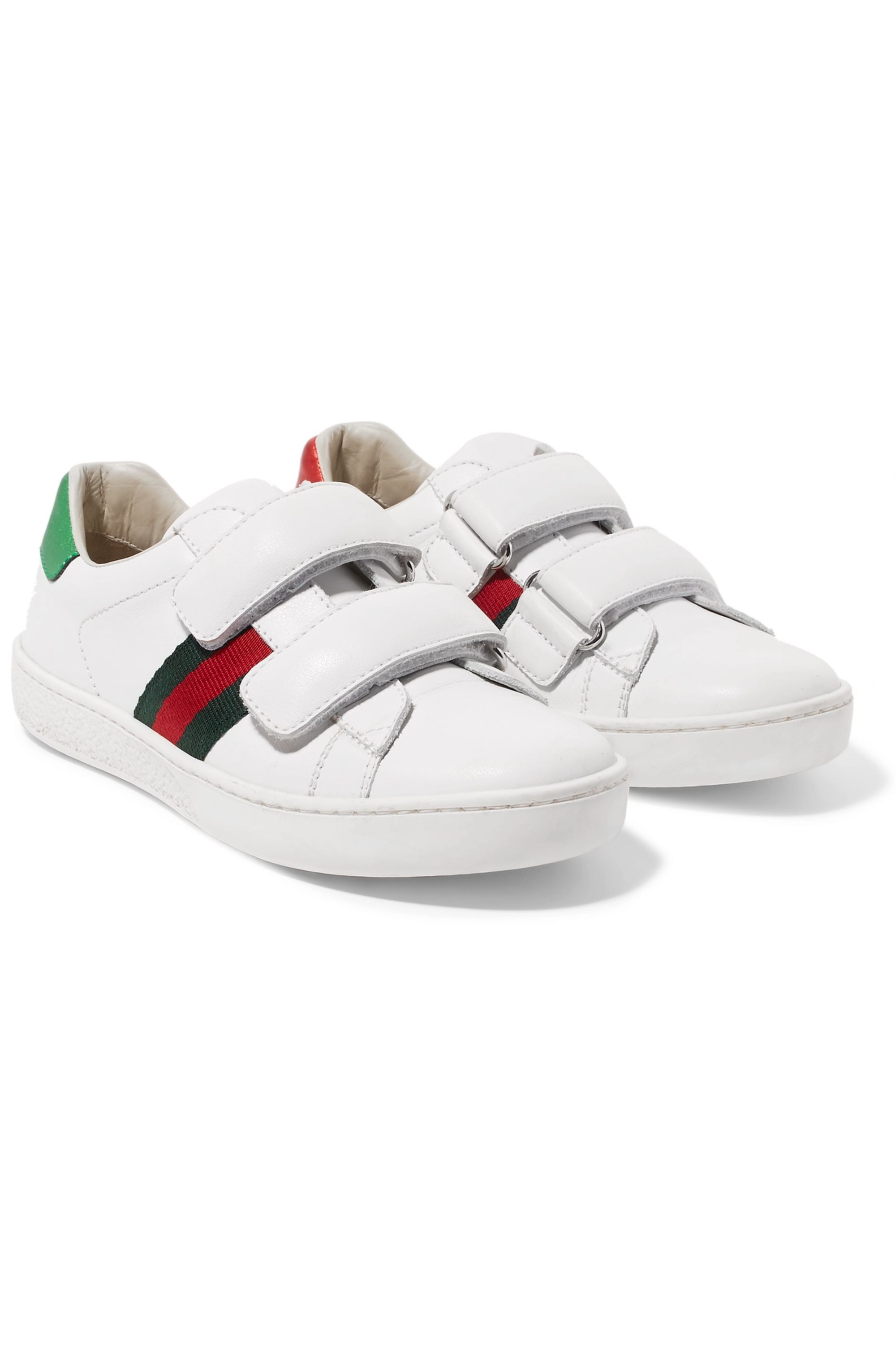 33 Ace logo-print leather sneakers