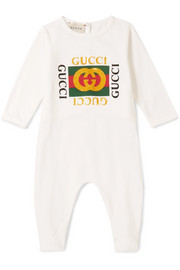 Gucci Kids Months 0 - 18 printed cotton-jersey babygrow