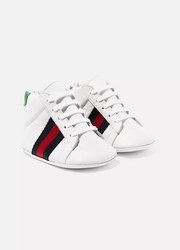 Size 16 - 19 Ace logo-print leather high-top sneakers