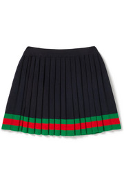 Ages 4 - 12 striped pleated wool skirt