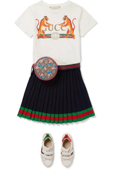 918f3e32dd7 Gucci Kids | Ages 4 - 12 striped pleated wool skirt | NET-A-PORTER.COM