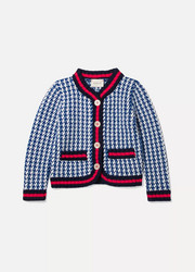 Ages 4 - 12 appliquéd houndstooth wool jacket