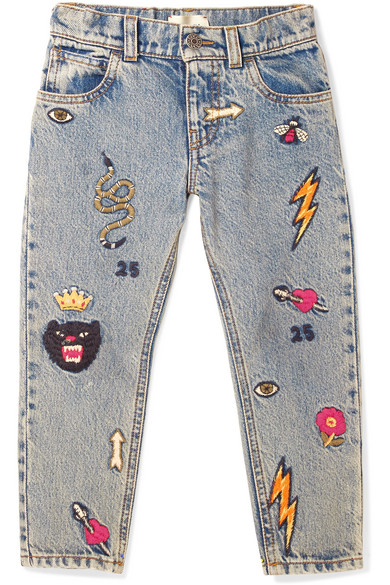 657ba4042ca Gucci Kids | Ages 4 - 12 embroidered denim jeans | NET-A-PORTER.COM