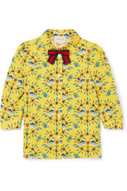 Ages 4 - 12 printed cotton-poplin shirt