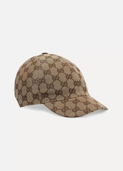 Baby coated-canvas baseball cap