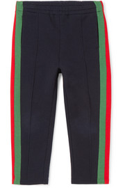 Ages 4 - 12 striped cotton-jersey track pants