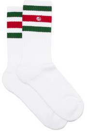 Size 6 - 12 intarsia stretch cotton-blend socks