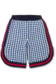 Ages 4 - 12 houndstooth intarsia wool shorts