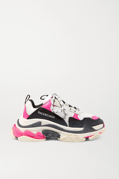 Balenciaga Sneakers Triple S logo-embroidered leather, nubuck and mesh sneakers