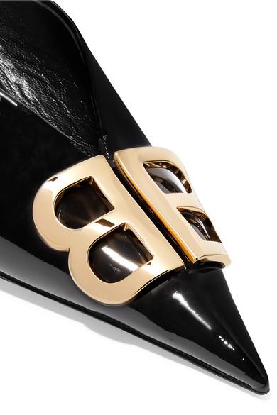 Balenciaga Mules Knife logo-embellished patent-leather mules