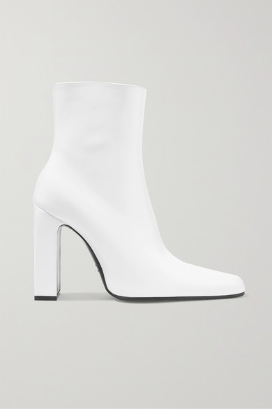 Leather Ankle Boots in White