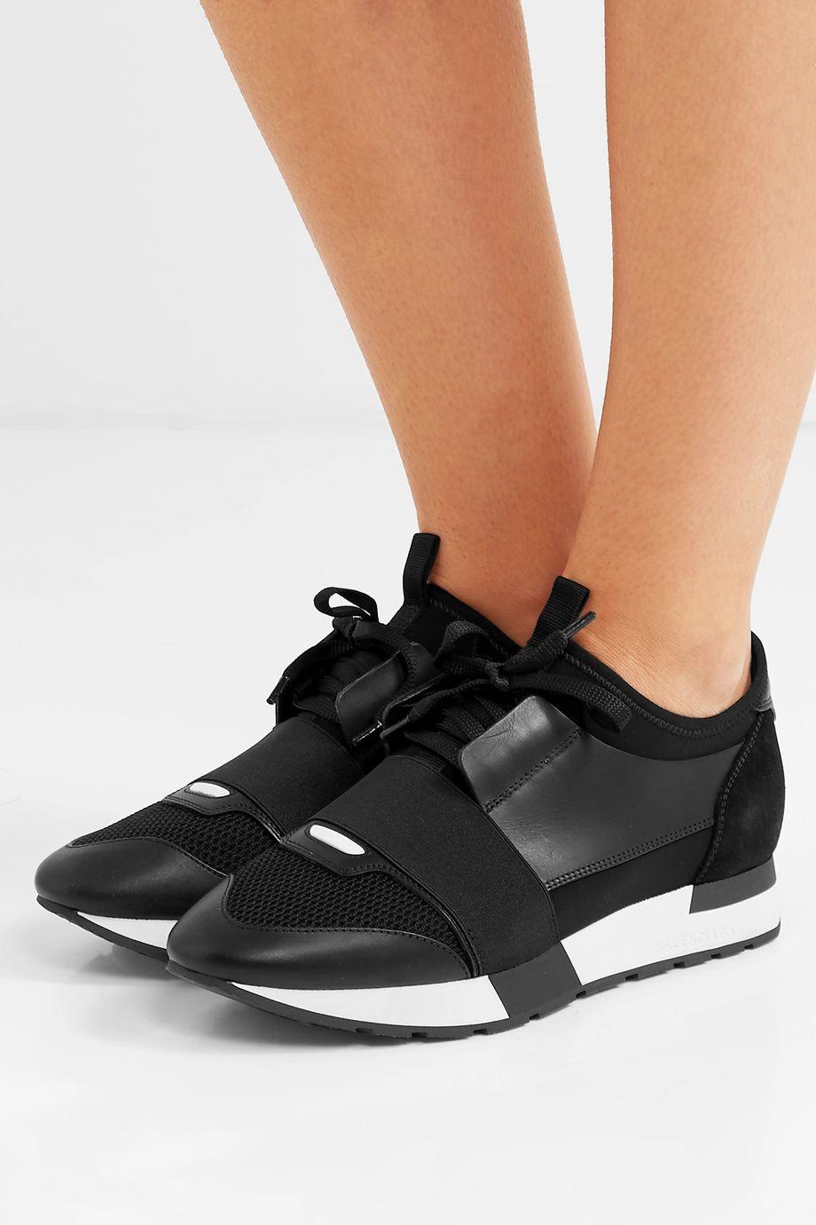 Balenciaga Race Runner leather, mesh and neoprene sneakers