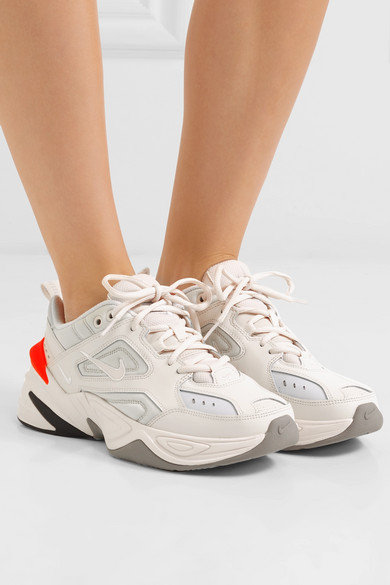 new design coupon code official site Nike | M2K Tekno leather sneakers | NET-A-PORTER.COM