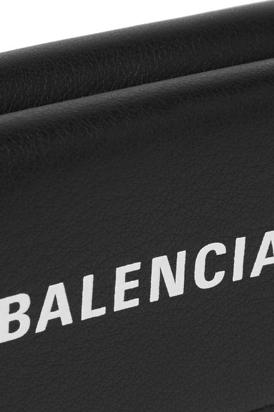 Balenciaga Wallets Everyday printed textured-leather wallet