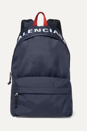 Balenciaga Wheel embroidered shell backpack
