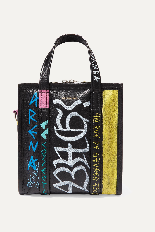 Balenciaga Bazar XS textured-leather tote