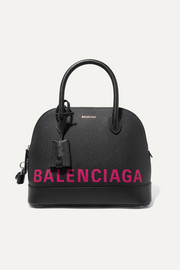 Balenciaga Ville printed textured-leather tote