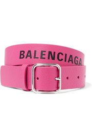 Balenciaga Everyday printed textured-leather waist belt