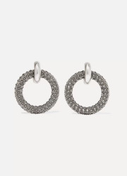 Palladium-tone crystal earrings