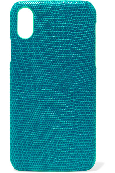 THE CASE FACTORY LIZARD-EFFECT LEATHER IPHONE X CASE
