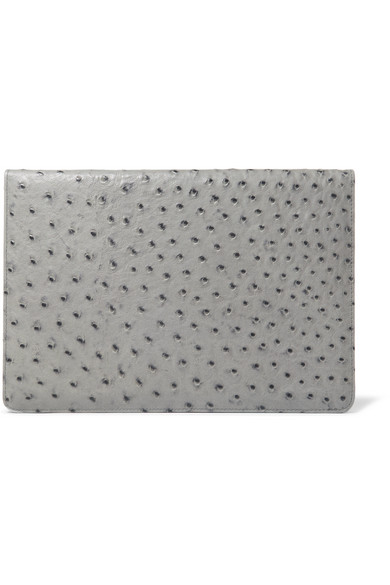 """THE CASE FACTORY OSTRICH-EFFECT LEATHER 12"""" MACBOOK COVER"""