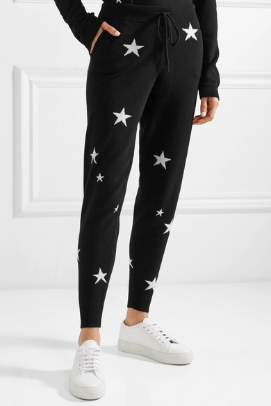 CHINTI & PARKER Cashmeres STAR CASHMERE TRACK PANTS