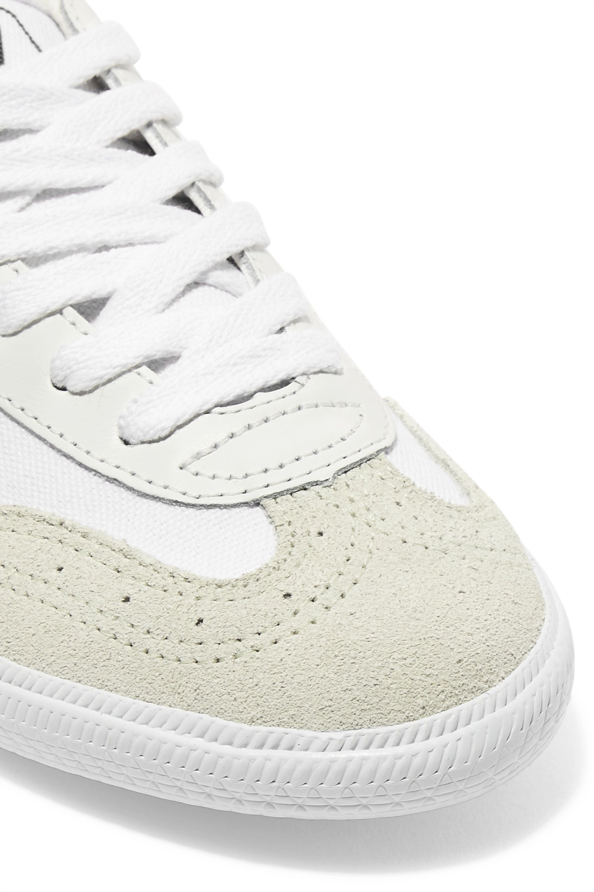 Veja Volley organic cotton-canvas, suede and leather sneakers
