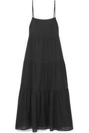 Matteau Tiered cotton-voile maxi dress