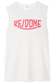 RE/DONE + Hanes printed cotton-jersey tank