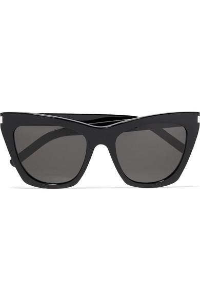 0d0df53734 SAINT LAURENT. Kate cat-eye acetate sunglasses