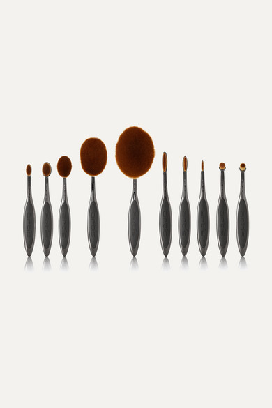 Elite Smoke 10 Brush Set - Gray