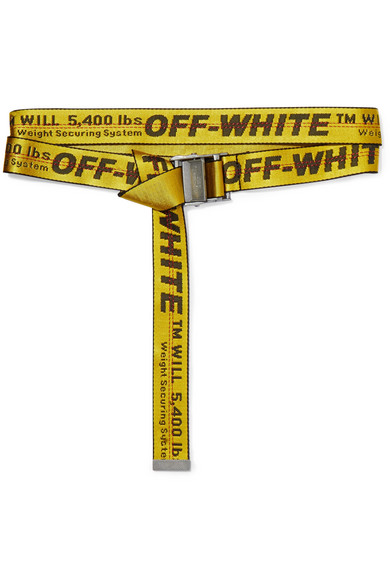 Off-White - Canvas-jacquard Belt - Yellow