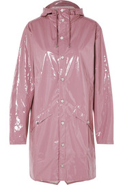 Rains Hooded glossed-PU raincoat