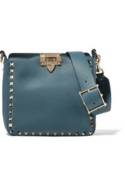 Valentino Valentino Garavani The Rockstud mini textured-leather shoulder bag