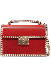 Valentino Valentino Garavani The Rockstud No Limit textured-leather shoulder bag