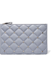 Valentino Valentino Garavani Candystud large quilted leather pouch