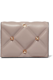 Valentino Valentino Garavani Candystud quilted leather wallet