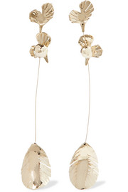 Valentino Valentino Garavani gold-tone clip earrings