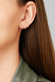 Flower Garland 18-karat rose gold diamond earring