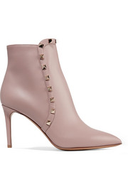 Valentino Valentino Garavani studded leather ankle boots