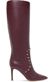 Valentino Valentino Garavani The Rockstud leather knee boots