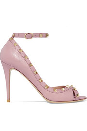Valentino Valentino Garavani The Rockstud textured-leather sandals