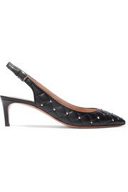 Valentino Valentino Garavani The Rockstud quilted leather slingback pumps