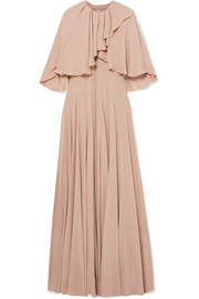 Valentino Ruffled stretch-silk chiffon gown