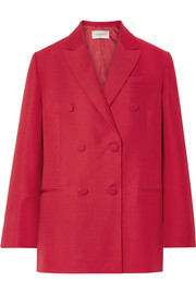 Valentino Oversized silk and wool-blend crepe blazer