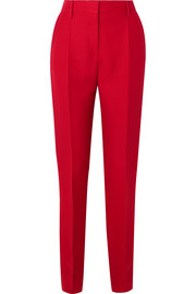 Valentino Silk and wool-blend slim-leg pants
