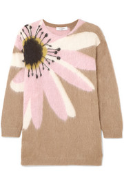 Valentino Oversized embroidered cashmere sweater