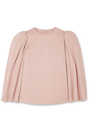 Valentino Cape-effect crepe blouse