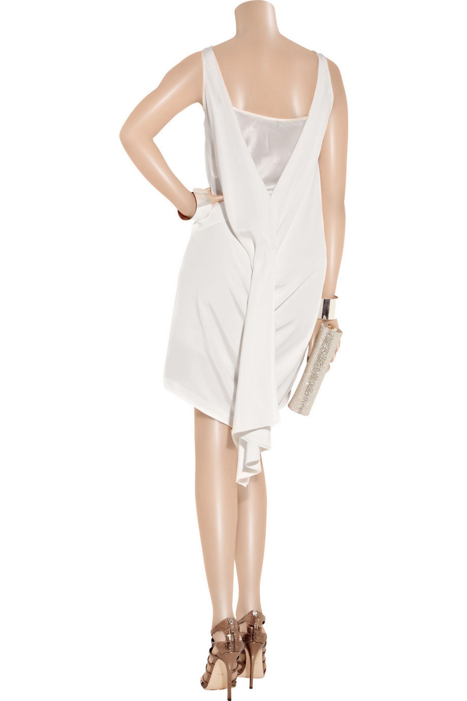 Amanda Wakeley Draped silk-cady dress