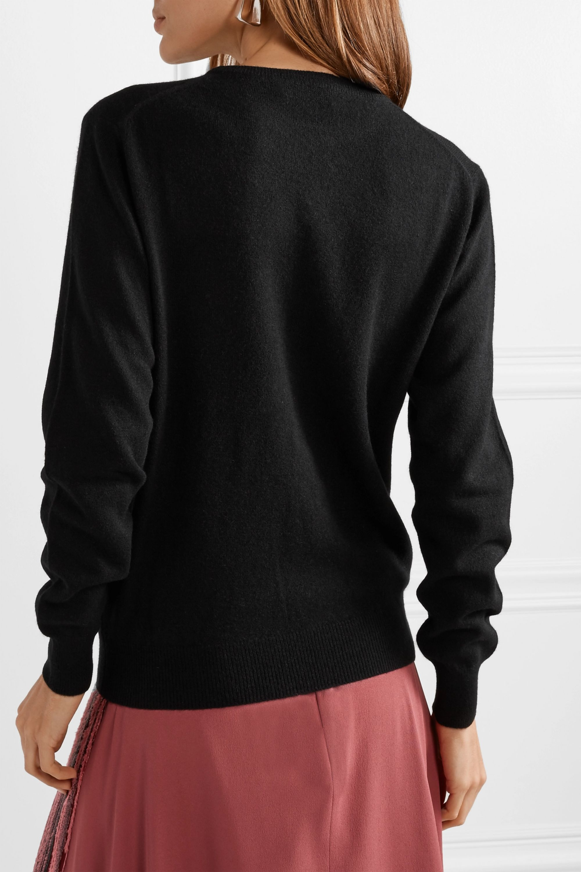 Lingua Franca That Thing embroidered cashmere sweater